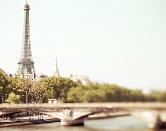 Paris photography, Paris Art, Eiffel Tower - Bon Jour, Paris! 8x8