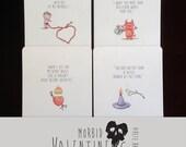 Morbid Valentine Complete Set of 4 cards