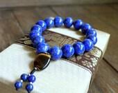 Lapis Lazuli Crystal Bracelet: Wisdom & Harmony