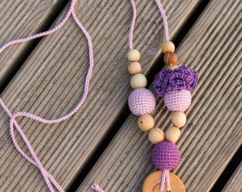 Flower Mama in Lavender & Purple - Juniper Wood - Kangaroo Care