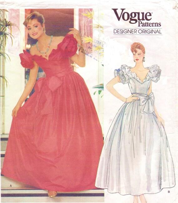 80s Bellville Sassoon Womens Ballgown Wedding Dress Vogue