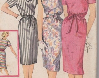 FACTORY FOLDED 1960's Misses' Dress Simplicity 3780 Size 12 Bust 32