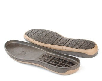 Brown rubber soles for your own projects - Supply for shoes, snow boots - big sizes