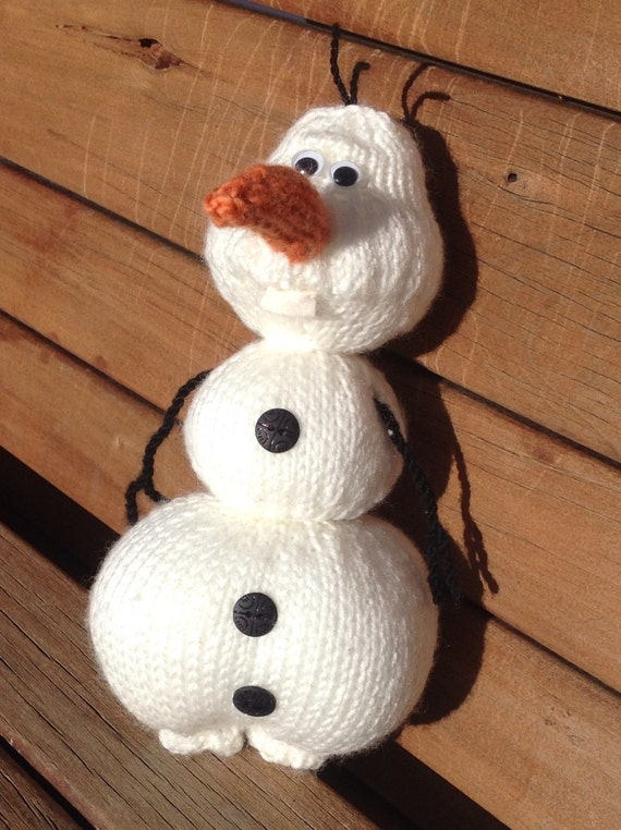 """Olaf from """"Frozen"""" - Knitting Pattern UPDATED!"""