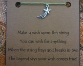 Shooting STAR WISH STRING Bracelet Choice Cord Color