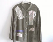 Boho Patchwork Shirt Plus Size Eco Fashion