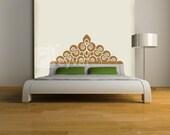 Regal Headboard Vinyl Wall DECAL- BED- Twin, Double, Full, Queen, King, dorm room, home decor