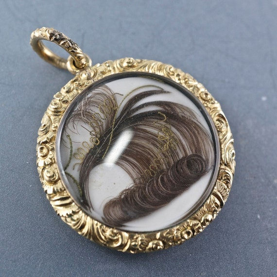 antique mourning jewelry hair jewelry pendant georgian
