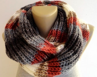 ON SALE // Chunky Scarf Women Knit Infinity Scarf Men Chunky Cowl Scarf Winter Scarf Fashion Accessories Valentines Day Gifts senoaccessory