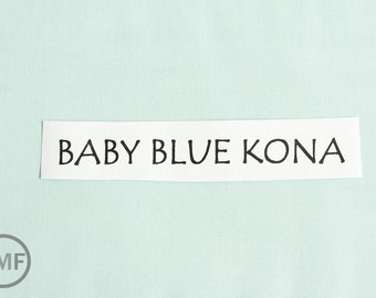 One Yard Baby Blue Kona Cotton Solid Fabric from Robert Kaufman, K001-1010