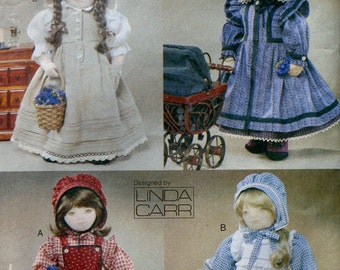 Vogue Craft Sewing Doll Clothes Wardrobe Pattern 7564 PRAIRIE CLOTHING Linda Carr - Fits American Girl Our Generation Carpatina Gotz Dolls
