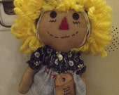 "Primitive 11"" Annie Doll with tag"