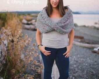 "Crochet Shawl Pattern: ""Twisted Infinity Shawl"", Crochet Mobius Shawl"