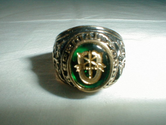 Vintage Mens U S Special Forces Ring 18 By