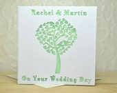 Wedding Heart Tree personalised laser cut card