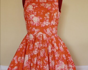 Orange Sherbet Swing Dress - Custom Made