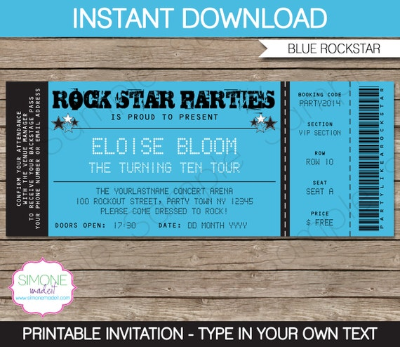 Rockstar invitation template karaoke invitation birthday party il570xn stopboris Image collections
