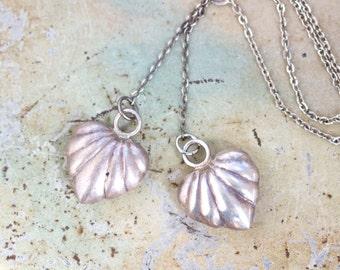 Double heart Vintage art Deco Necklace