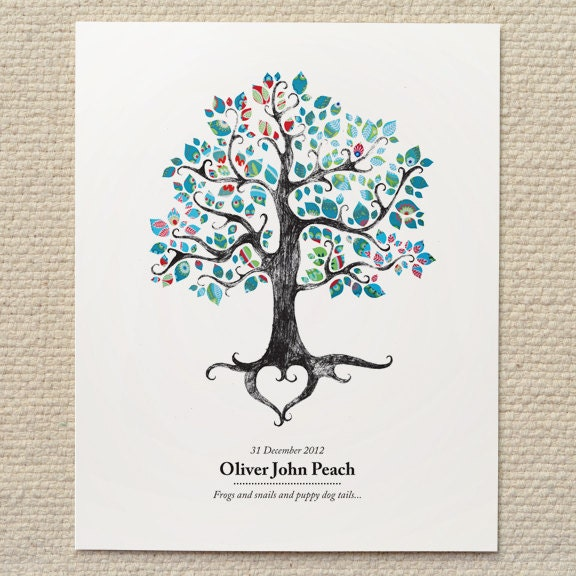 rustic woodland tree wedding poster sign