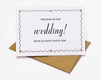 Welcome Wedding Weekend card - bulk pack of 25 cards - wedding out of town - wedding welcome card