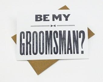 Will You Be My Groomsman - (6)  groomsman cards - groomsmen gift
