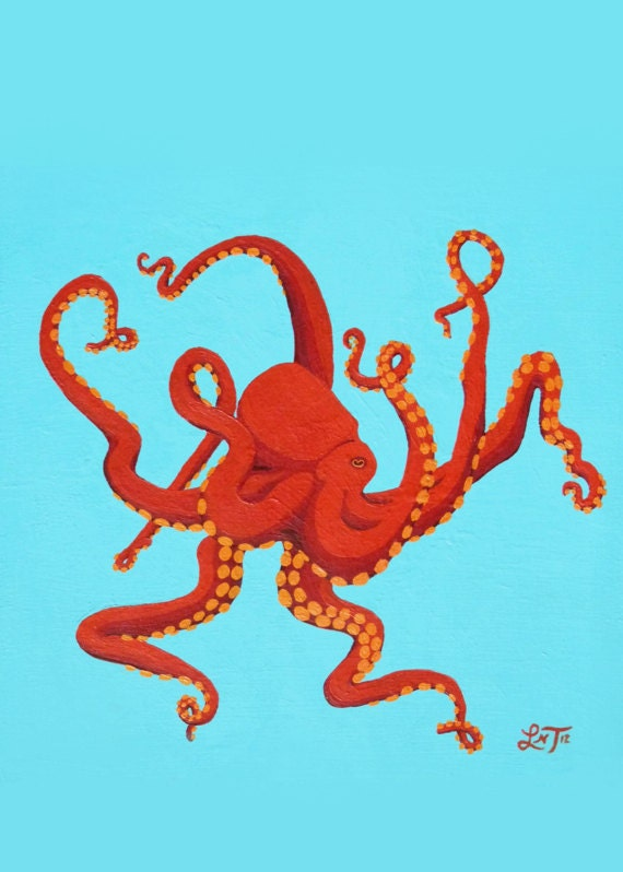 Art Notecard 5 x 7 inches - Great Red