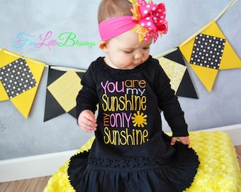 You are my sunshine - my only sunshine - baby shower gift - summer time - summer shirt - girl - boy