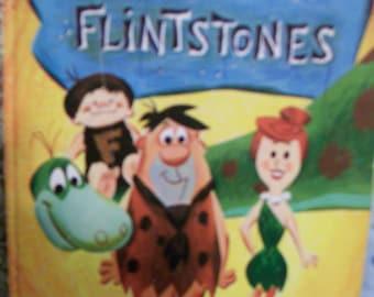 Vintage, Little Golden Book, The  Flintstones, Circa 1961,  Hanna Barbera, Stone Age Modern Family Cartoon