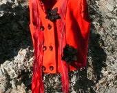 Wool Vest Vintage Upcycled Size 12