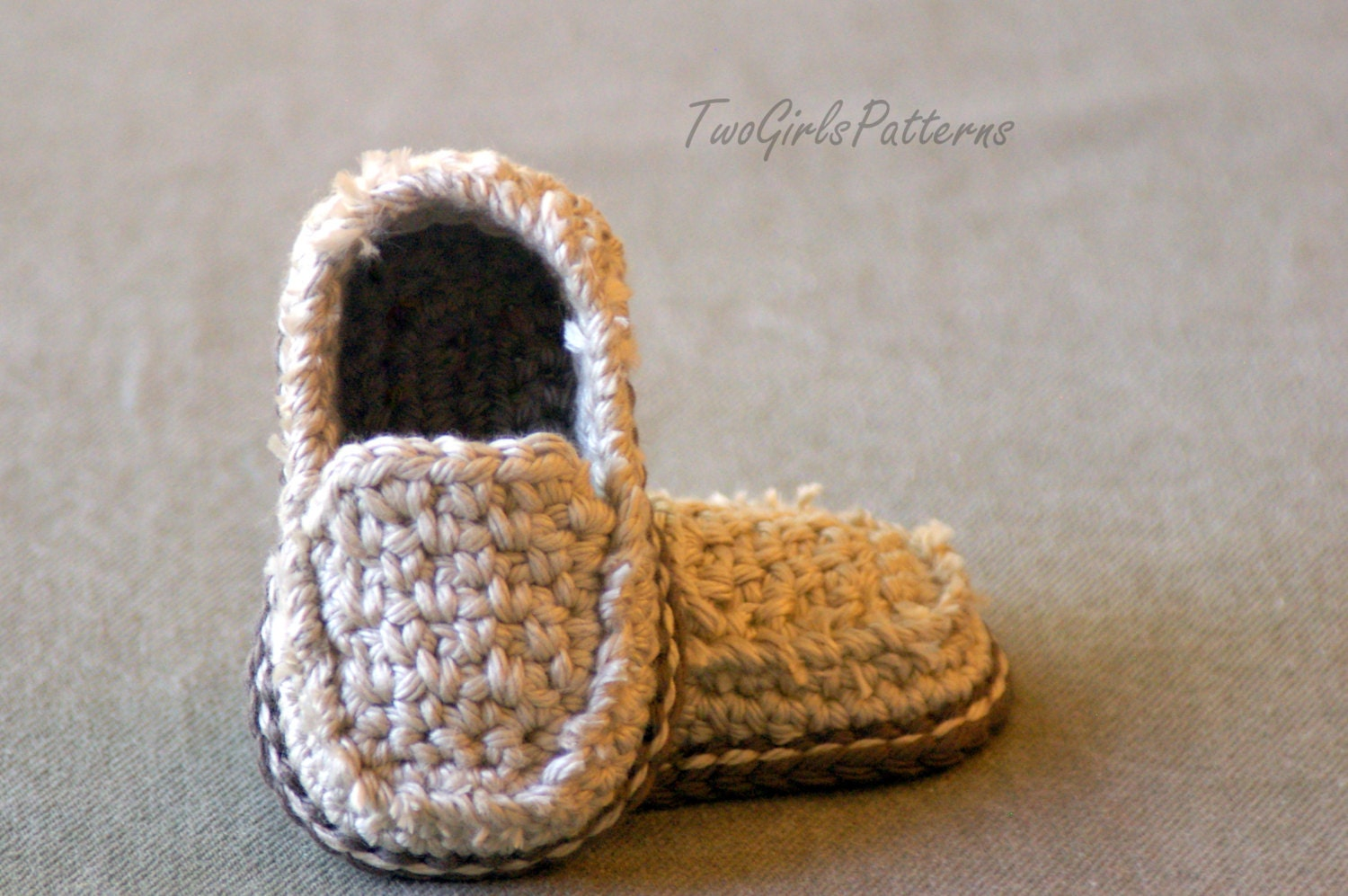 Crochet Pattern Baby Boy Loafers : Knitting and Crochet Patterns