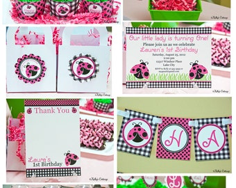 Ladybug Birthday Party Mini Package...Custom, Printable DIY Package
