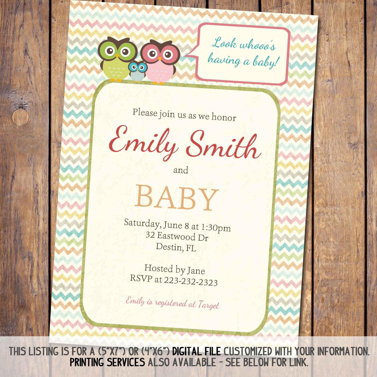 owl baby shower invitations gender neutral baby shower