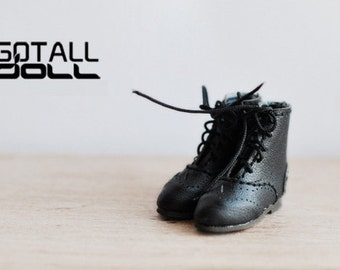 GOTALL doll handmade Vintage Short Boots for Blythe doll - doll shoes - black