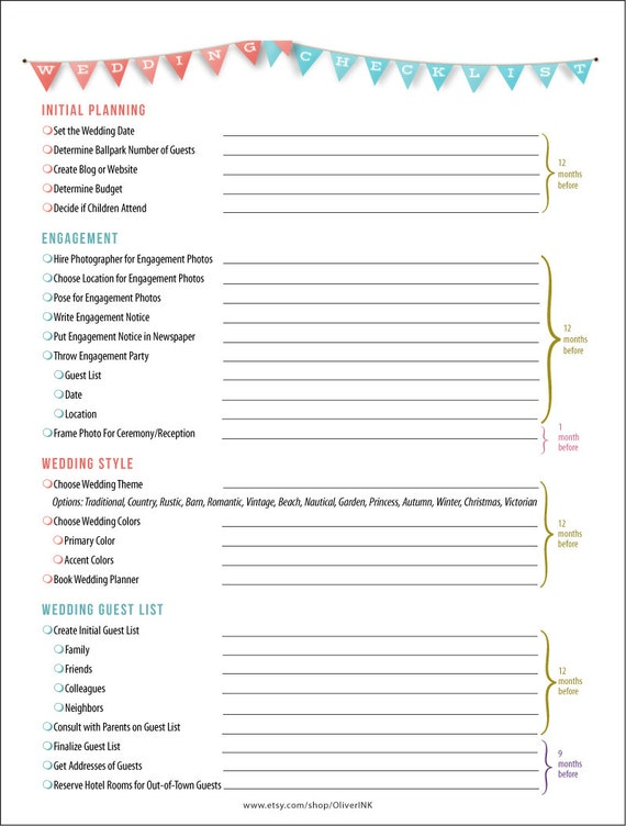 Wedding Checklist Pdf  KakTakTk