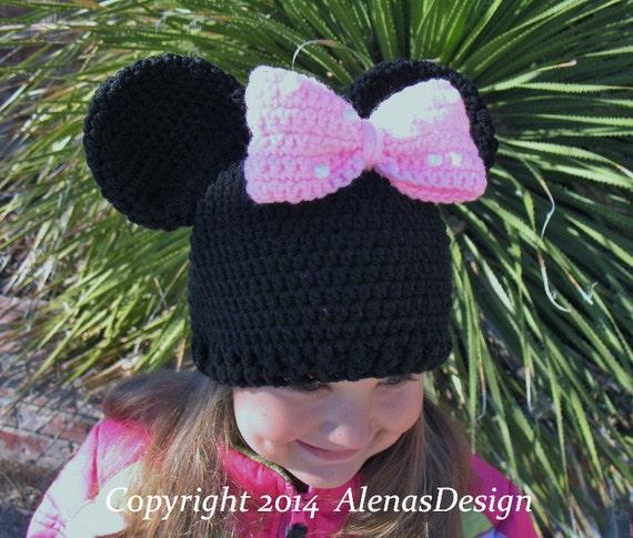 Minnie Mouse Crochet Hat Pattern Child : Crochet Pattern 100 Crochet Hat Pattern for Childs