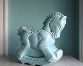 Baby Blue Horse Planter - Blue Pony Planter - Nursery Decor