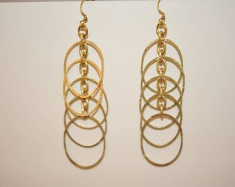 Handmade Vintage Circle Drop Earrings