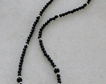 Shungite and black tourmaline necklace for ladies or men