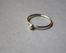 Silver Asteroid Ring - Nugget Stacking Ring - Recycled Argentium Silver - Silver Solitaire Stacker - Hypoallergenic Jewelry - Solitaire Ring