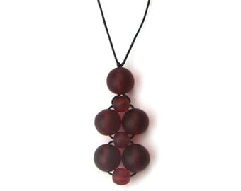 SALE - Nursing Necklace/ Breastfeeding Necklace/ Babywearing Necklace - Burgundy/ Wine - Garnet Red