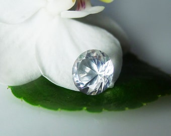 Herkimer Diamond Loose Round Cut Gemstone Petal Cut