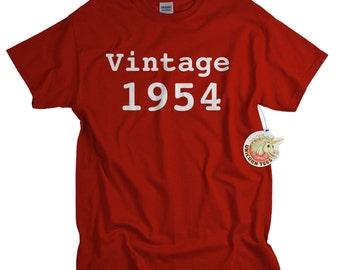 60th birthday gift for dad 60th birthday shirt funny gift for dad funny t-shirt 60 birthday 1954 custom birthday gift tshirt tee men vtg1954