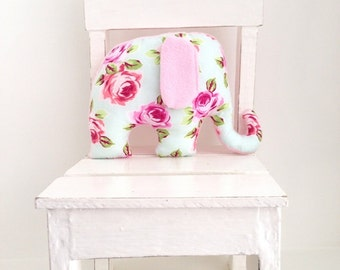 Elephant soft toy / plush toy for baby girl.