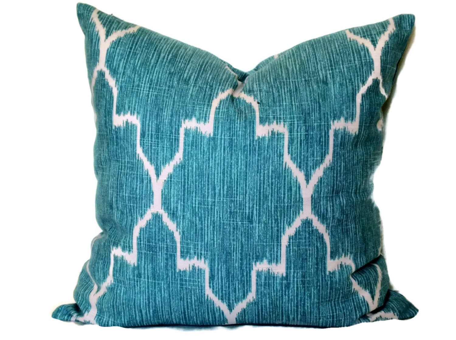 Ice Blue Throw Pillows : Ice Blue and Cream Lattice Decorative Pillow Covers 18x18