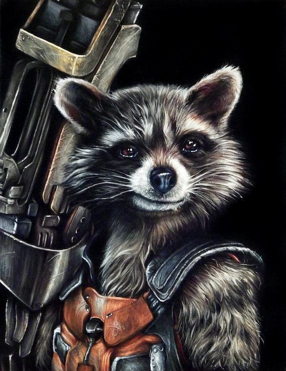 rocket raccoon guardians of the galaxy original acrylic