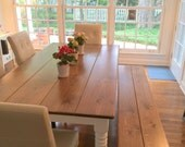 Farmhouse Style Table, Dining Room Table, Farm Table, Rustic Kitchen Table, Rustic Farm Table, Dining Furniture