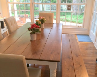 Wonderful Farmhouse Style Table, Dining Room Table, Farm Table, Rustic Kitchen Table,  Rustic