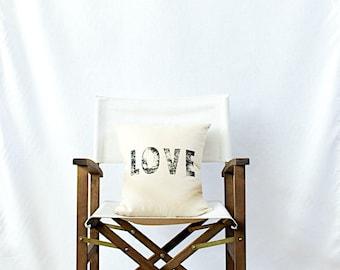 LOVE // Linen Quote Pillow // Modern Heirlooms