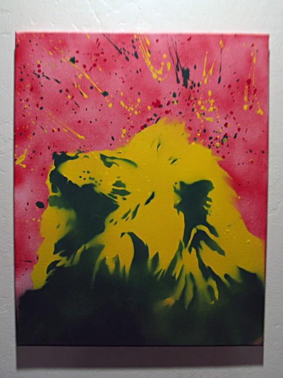 Rasta lion head stencil - photo#26