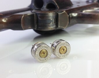 Authentic Hornady 9MM Bullet Shell Casing Earrings